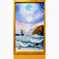 Картина маслом Вечерние волны