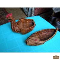 Плетеные вазочки для дома и дачи.
