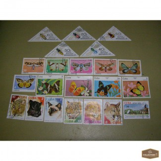 Продам старые марки Кубы,Монголии,СССР.