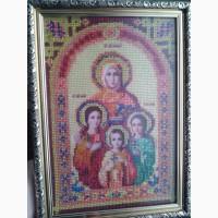 Продам вышитую чеським бисером икону. Цена 400 грн