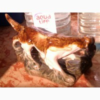 Собака с уткой статуэтка