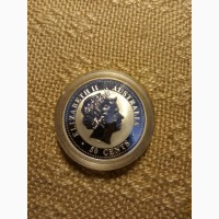 Продам монету, 50центов, Елизавета2, Австралия, год кролика, серебро