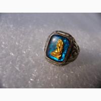 Редкое муж. кольцо с янтарём, Русалка, морское, СССР