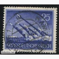 Почтовая марка. Grossdeutsches Reich. 25+15 pfg. 1944г. SC 877. USED