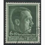 Почтовая марка. Adolf Hitler. Deutsches Reich. 6+19 pfg. 1938г. SC 664