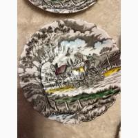 J G MEAKIN два коллекционных антиквариат блюдца MADE IN ENGLAND
