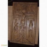 Продам картину (икону), выполненную на 3D-фрезерном станке.Материал - дерево (ясень)