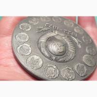 Настольная медаль Ленин.Эмаль