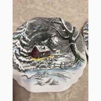 Тарелка коллекционная винтаж -MEAKIN--WELCOME-HOME