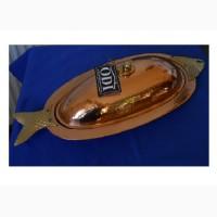 Винтажный противень для запекания рыбы и рыбных блюд