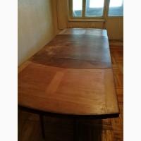 Старинный антикварный обеденный стол раздвижной