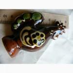 Расписной петушок, керамика, глазурь, СССР, миниатюра
