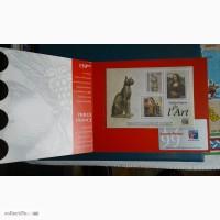 Приглашения на выставки, спецгашения, блоки Франции, марки Дагестана