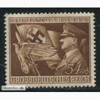 Почтовая марка. Adolf Hitler. Deutsches Reich. 54+96 pf. 1944г. SC 858. MVLH