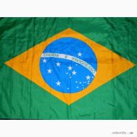 Флаг Бразилии Бразилия Brasil, Бразильский прапор 90 х 138 made ln CEE