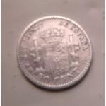 Серебро 50 сентимо королевства Испания с 1904