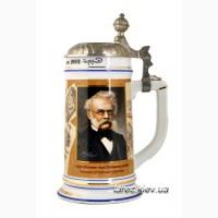 Подарок мужчине пивная кружка с портретом Вернера фон Сименсона