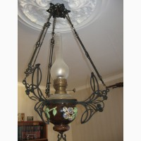 Продам лампу б/у керосиновую потолочную антикварную