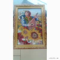 Продам картину вышитую чешским бисером
