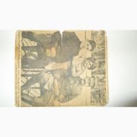 Газетная вырезка Товарищ Сталин со своими детьми.