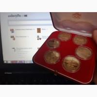 Набор золотых монет Олимпиада 80 100 рублей