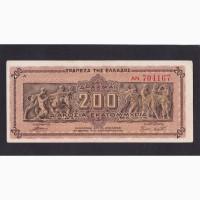 200 000 000 драхм 1944г. AN 704167. Греция