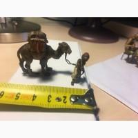 Продажа венская полихромная бронза, Бедуин и верблюд'', конец19- нач20 веков, раритет