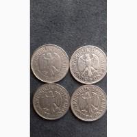 Монеты 1 дойч-марка. 4 шт