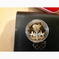 100 рублей. Олимпийский огонь Олимпиада 80