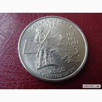25 центов США Массачусетс
