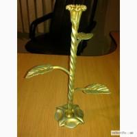 Заказать кованый подсвечник цветок Луцк