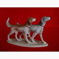 Винтажная фарфоровая статуэтка Охотничьи собаки