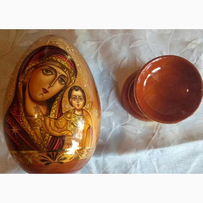 Фото 3. Икона Божьей Матери Казанская пасхальное яйцо