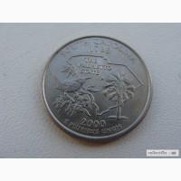 25 центов США Южная Каролина