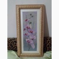 Продам вишиту картину орхідея
