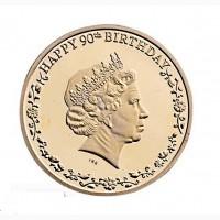Сувенир-монета к 90-летию королевы Елизаветы II