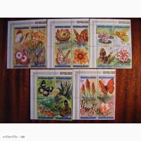 Продам почтовые марки флора- лекарственные растения, бабочки Бурунди