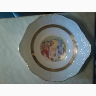 Тарелка Мадонна 60х годов с золотыми лентами, завод THUN