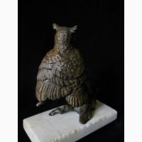 Бронзовая миниатюрная статуэтка Филин