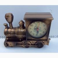Кварцевые паровоз-часы-будильник