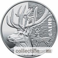 Монета Олень. Серебро, Киев. Коллекционные монеты Украины