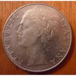 100 лир 1976 Италия