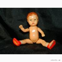 Винтажная Кукла Пупс Ari Germany 1011 на резинках 9см 1950х годов