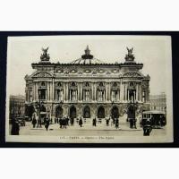 Открытка (ПК). Франция. Париж. Опера. 1928г. Лот 208