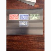 4 марки (полная серия) коронации Елизаветы II, 1953 год