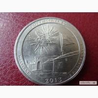 Парки США 25 центов ФОРТ ГЕНРИ 2013