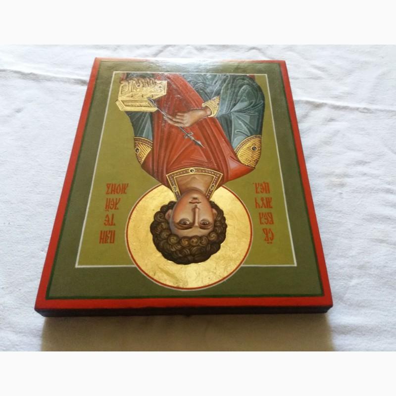 Фото 4. Икона Святой великомученик Пантелеймон целитель. Письмо темперой, ручная работа