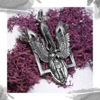 Срібний кулон «Вісник»