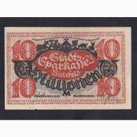 10 000 000 марок 1923г. Билефельд. Германия