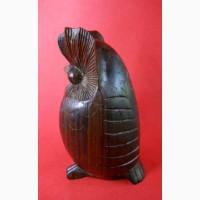 Винтажная деревянная статуэтка Балийской совы